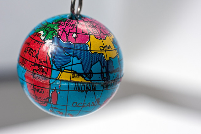 Globe on Keychain