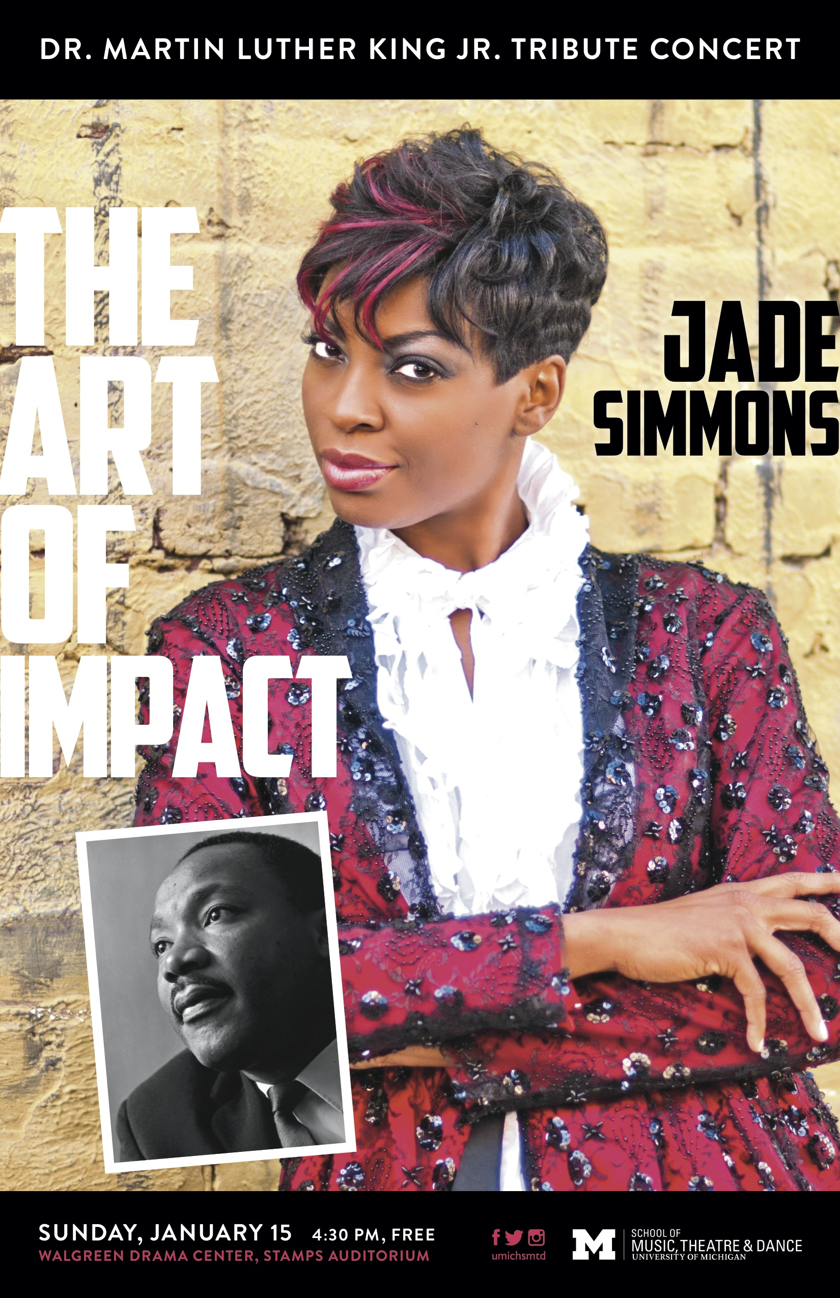 Jade Simmons, The Art of Impact, Dr. Martin Luther King Jr. Tribute Concert