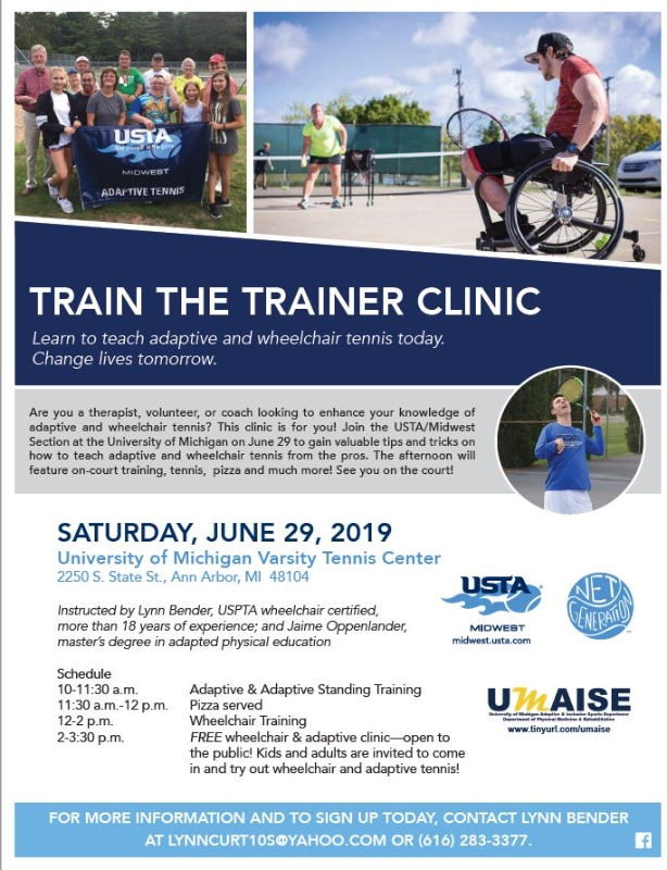 ann arbor train the trainer clinic flyer