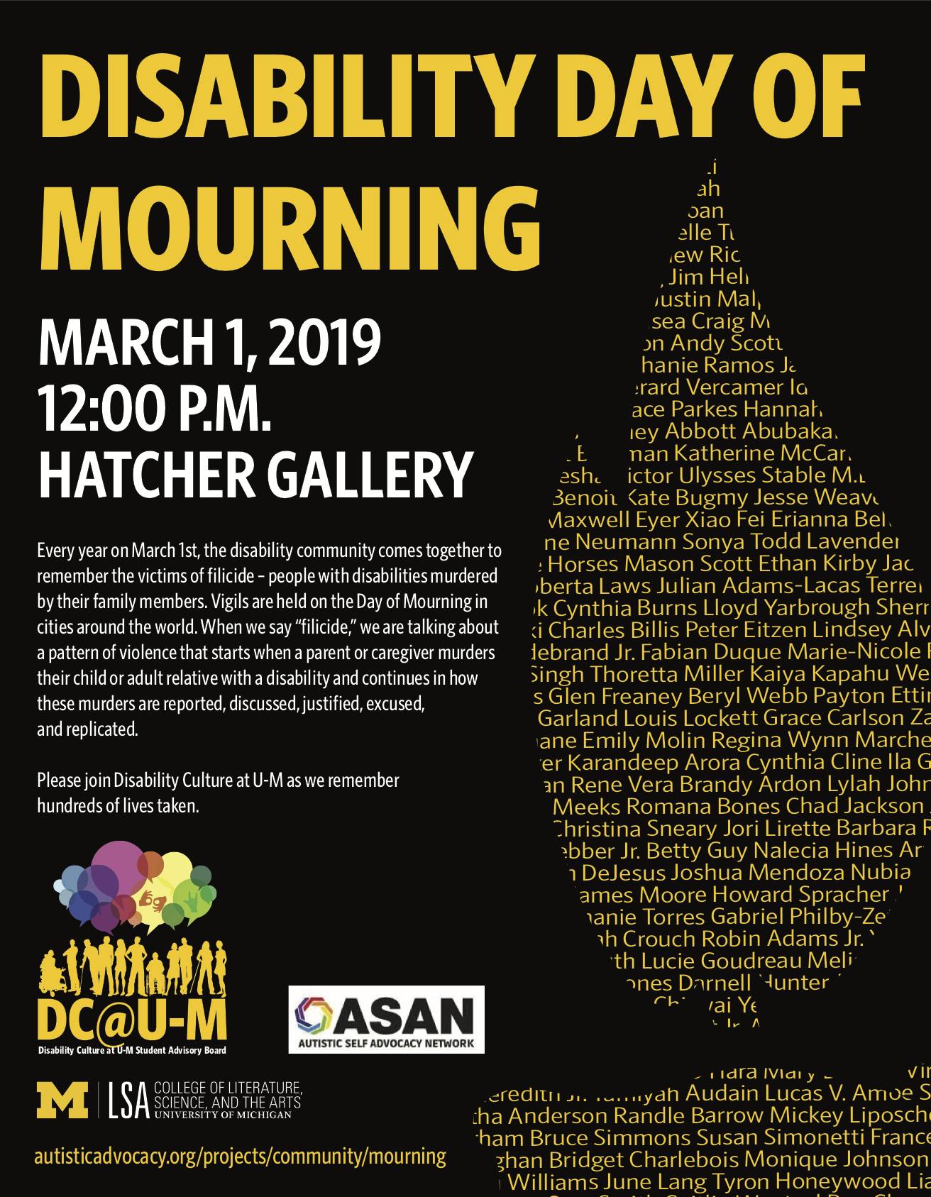 flyer for day of mourning