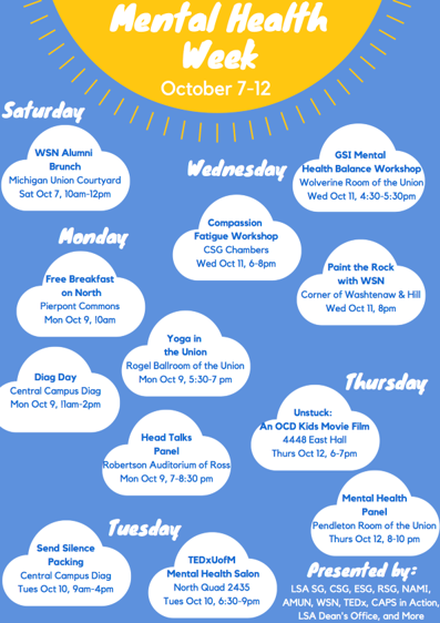Mental Health Week Poster October 7-12