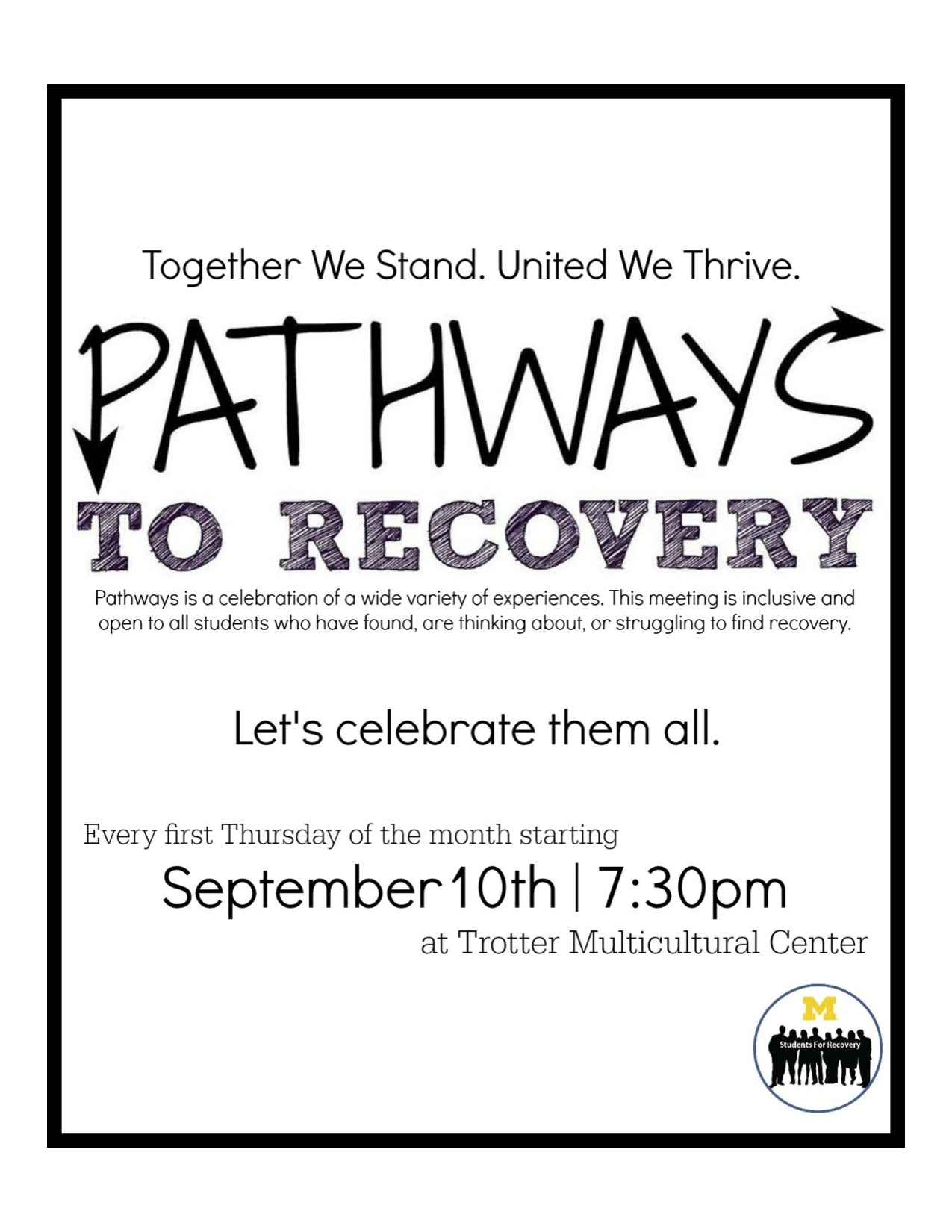 Pathways to Recovery flyer