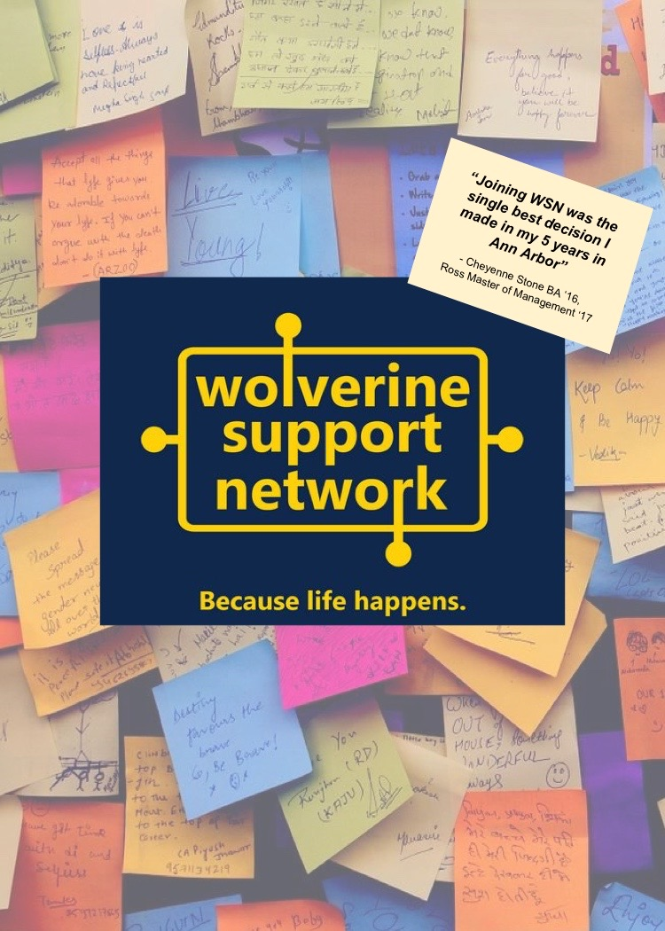 Wolverine Support Network - Because Life Happens flyer