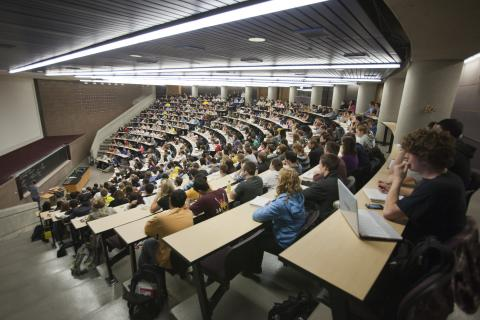 Students listening to lecture in CHEM 1800