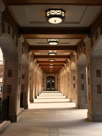 Covered archway in North Quad