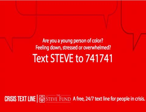 A free 24/7 text line for people in crisis
